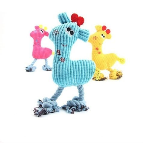 Giraffe Fleece Plush Squeaky Toy