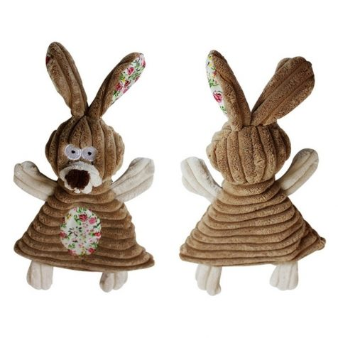 Rabbit & Elephant Squeaky Chewing Toy