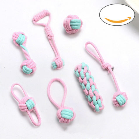 Cotton rope dog toy set